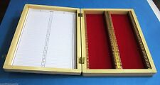 New Wooden Microscope slide Box for 100 Slides - Prepared Slide Storage Case.
