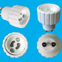 GU10 To GU10 Light Bulb Lamp Adaptor Converter Holder 52mm Socket Extender