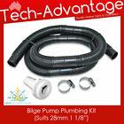 "Bilge Pump Plumbing Kit (Suit 28mm or 1-1/8"" Hose) + Black Hose + Skin Fitting photo"