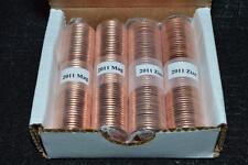2011 - 4 X ORIGINAL SEALED CANADA 1 CENT PENNY ROLLS - 2 ZINC & 2 MAGNETIC