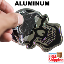 3D Aluminum Skull Sticker Emblem For Motorcycle, Auto, Truck