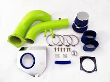 96-04 Ford Mustang 4.6L V8 Green Cold Air Intake System - Blue Filter