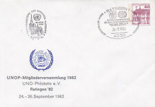 Germany 1982 UNOP 20th anniversary of Philately in Ratingen cover VGC