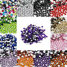 1000 Crystal Flat Back Acrylic Rhinestones Gems Diamond Wedding Party Table Dark Purple 1