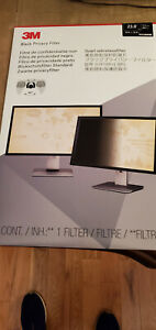 NEW-3M Privacy Filter for 23.8 in Widescreen Monitor PF238W9B Black-FREE SHIP