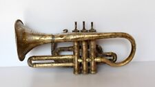 1940'c Antique old Hand Made Brass Made India In Meerut Cornet Music Instrument