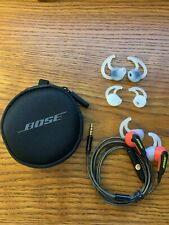 Original Bose SiE2i SoundSport In-Ear Headphones -W/Microphone-Red-With Case