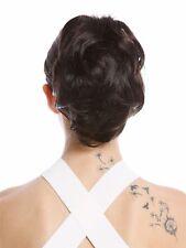 Hair Piece Ponytail short Voluminous Wavy Dark Brown 20 cm 1028-V-4