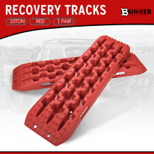 BUNKER INDUST Traction Tracks, 2 Pcs Red Traction Mat Recovery