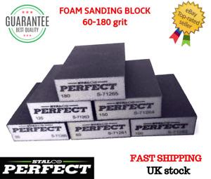 60-180 GRIT Sanding Blocks Foam Sandpaper Polishing Sponge Pads Abrasive PERFECT