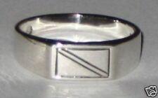 MED Scuba Diver,Sterling Silver Dive Flag Ring sz 8,9, 10  SC118