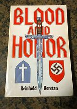 Blood and Honor - Reinhold Kerstan 1983, Paperback Signed & inscribed by Author