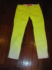 NOTIFY Manish Arora Bamboo 75 Jeans in Neon Yellow     sz 26   $190.00