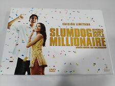 SLUMDOG MILLIONAIRE DANNY BOYLE ED LIMITADA 3 x DVD + LIBRO + POSTALES Nº0320