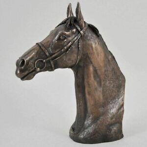 THOROUGHBRED Bronze Horse Head Sculpture by David Geenty