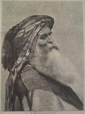 THE ARAB BEDOUIN SHEIKH HARPER'S WEEKLY 1870