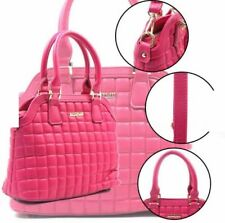 Fashionable Synthetic Leather Bag Sling Top Handle Bag (Fuscia Pink)