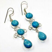 Jewelry Earring Jw7595C Caribbean Larimar Gemstone Handmade