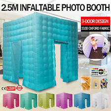 Inflatable LED Light Photo Booth Air Tent Wedding Party Christmas 8.2ft Cube USA