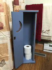 Primitive outhouse toilet paper Floor Standing Storage Cabinet Distressed