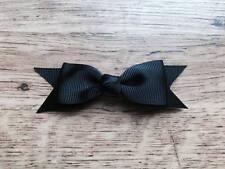2 x 3.5 in (ca. 8.89 cm) Nero Cravatta a Farfalla Stile Fiocco per Capelli con Clip a Coccodrillo Perfetto Regalo UK