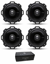 "Two Pair of Rockford Fosgate 4"" Power 320W 4 Ohm 2-Way Full-Range Speakers T142"