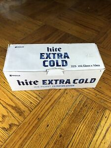 10 Hite Jinro 6oz. Beer Glass Cup Soju and Beer Mix Standard **NEW In BOX**