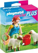 PLAYMOBIL® 4765 Bäuerin bei Schäfchen-Fütterung NEU OVP NEW MISB NRFB