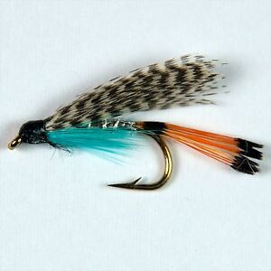6 TEAL BLUE & SILVER Wet Trout Fly Fishing Flies size options byDragonflies
