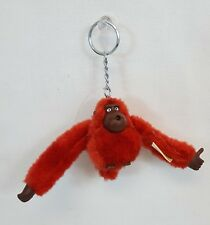 RARE Vintage KIPLING Thumb Sucking Furry JOHN MONKEY Plush RED Keychain MINT