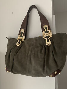 Michael Kors Green Suede Handbag