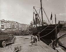 1900 MARSEILLE (13) Bateau Port - Photographie sur Plaque de verre Stéréo 6x13cm