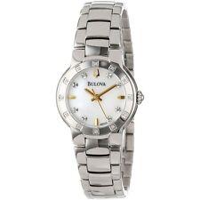 New Bulova Women's 96R173 Diamond Case Watch