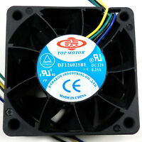 Top Motor DF126025BE 60mm x 25mm 12v Low speed 5000 rpm cooling fan 4 pin pwm