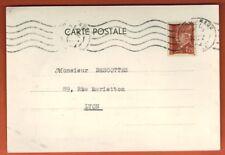 1942 - Carte Postale -Timbre Petain - 1f 20 - Cachet Lyon - Commercial