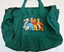 Disney Winnie The Pooh and Friends Duffle Carry On Bag Luggage Strap Green