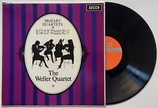 "THE WELLER QUARTET Mozart Quartets ""Prussian No. 1/3"" OZ Decca SXL 6258 EX/EX"