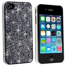 Coque housse Luxe Strass & Paillettes Noire Pour iPhone 4S / 4