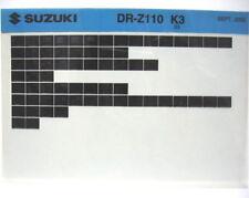Suzuki DR-Z110 2003  Parts Microfiche s165