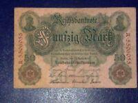 GERMANY - 50 MARK 1910 -  VERY  FINE