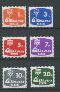 Gibraltar SGD7-D12 1976 Postage Due U/Mint