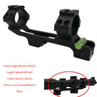 Cantilever PEPR 30mm Ring Scope Mount 20mm Picatinny Rail with Bubble Level Alum
