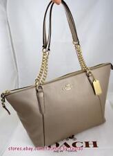 NWT Coach F 22208 Pebbled leather  Ava Chain Tote Bag Platinum