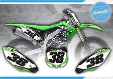KAWASAKI KX KXF 125 250 450 Impreso número fondos Motocross MX Gráficos