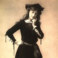 Miss Phyllis Dare RPPC postcard antique actress portrait in costume cute stage