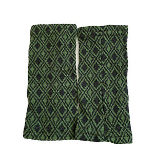 New IBEX 100% Merino Wool Hand Warmers Green Diamond Print Thumb Holes