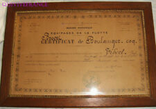 BREVET DE BOULANGER-COQ DES EQUIPAGES DE LA FLOTTE 1911 BREST