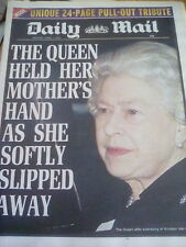 The Mail Newspaper April 1st 2002 Queen Mother Tribute Royal Family
