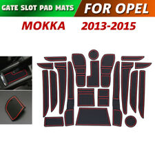 Gate slot pad For Opel Mokka Accessories Anti-Slip Mat Coasters 2013-2015 (Red)