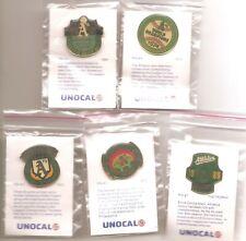 1990 Unocal Oakland A's Commemorative Pin Set of 5